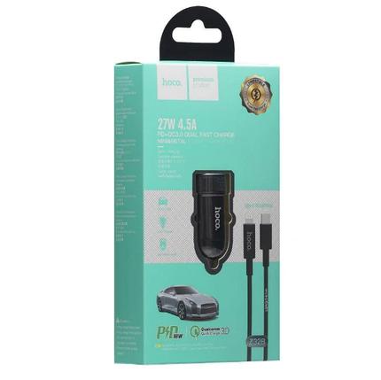 Автомобильное зарядное устройство для телефона Hoco Z32B Speed UP PD+QC3.0 Type-C to Lightning, фото 2