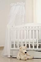 Балдахин на детскую кровать Twins универсальный multi, белый