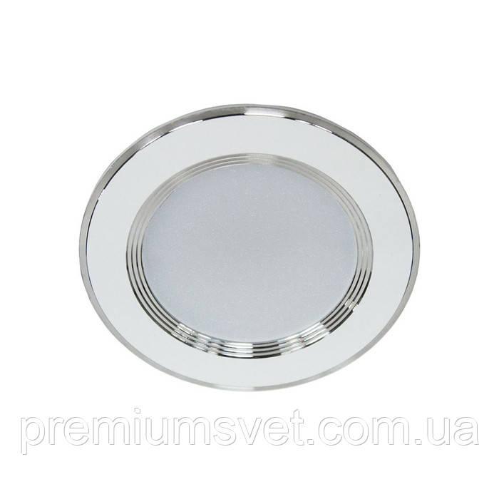 Світлодіодний світильник точковий AL527 5W коло, білий 400Lm 4000K