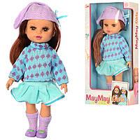 Детская кукла с длинными волосами в коробке, высота 33 см