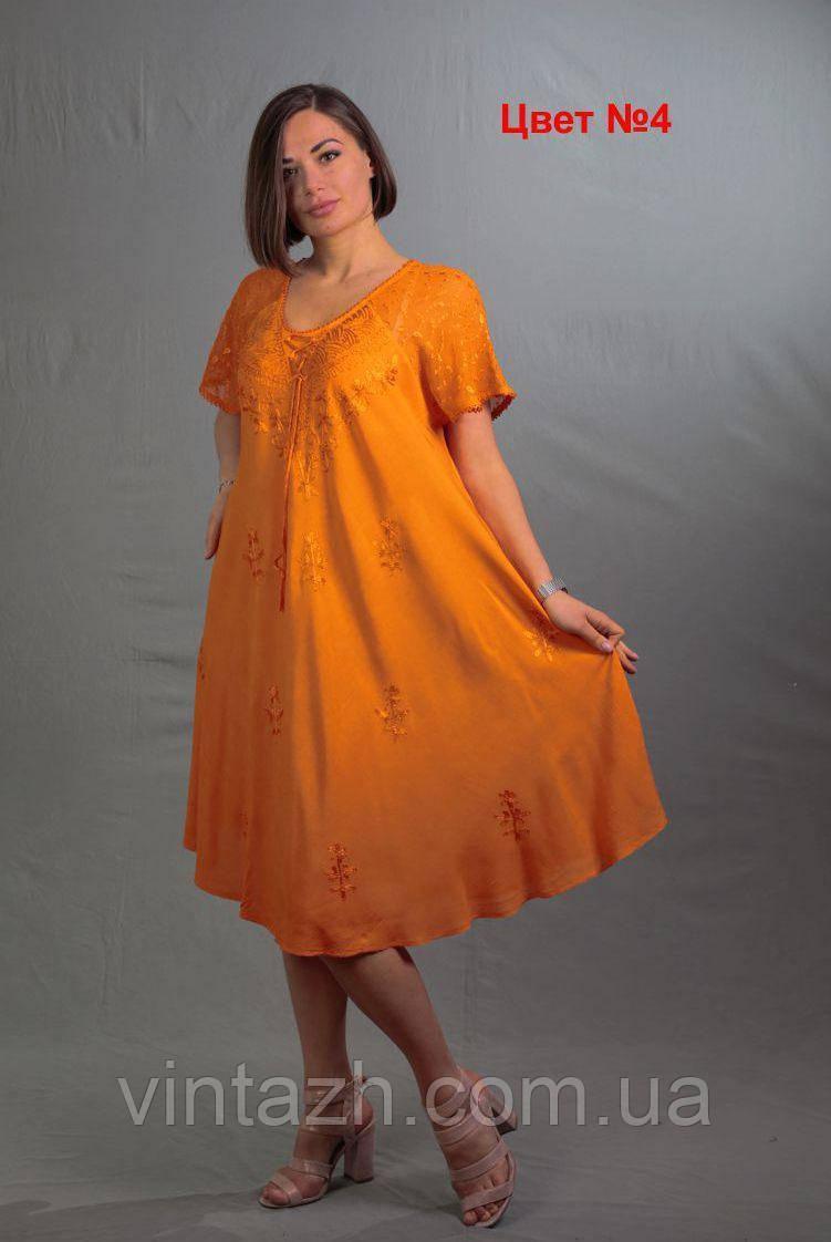 Красиве легке жіноче плаття великого розміру 58 з батисту недорого