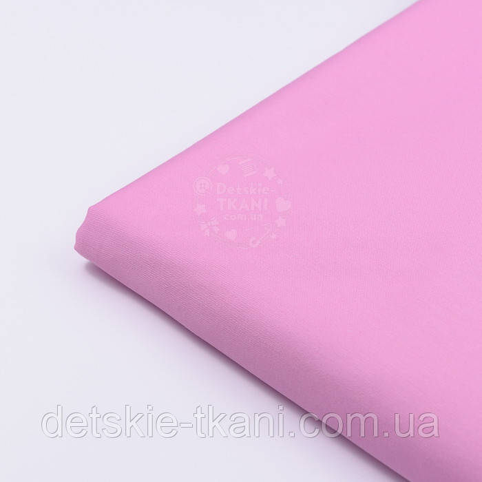 Клапоть сатину преміум яскраво-рожевого кольору №1073, розмір 19*110 см