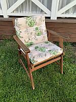 Матрас на кресло Хлопок Уют Simple flowers 80x50x7 см Зелёные розы