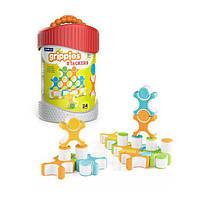 Детская развивающая магнитная игрушка-конструктор Guidecraft Grippies Stackers, 24 детали