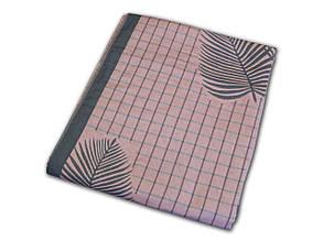 Покривало лляне 200х230 Листя сіро-рожеві