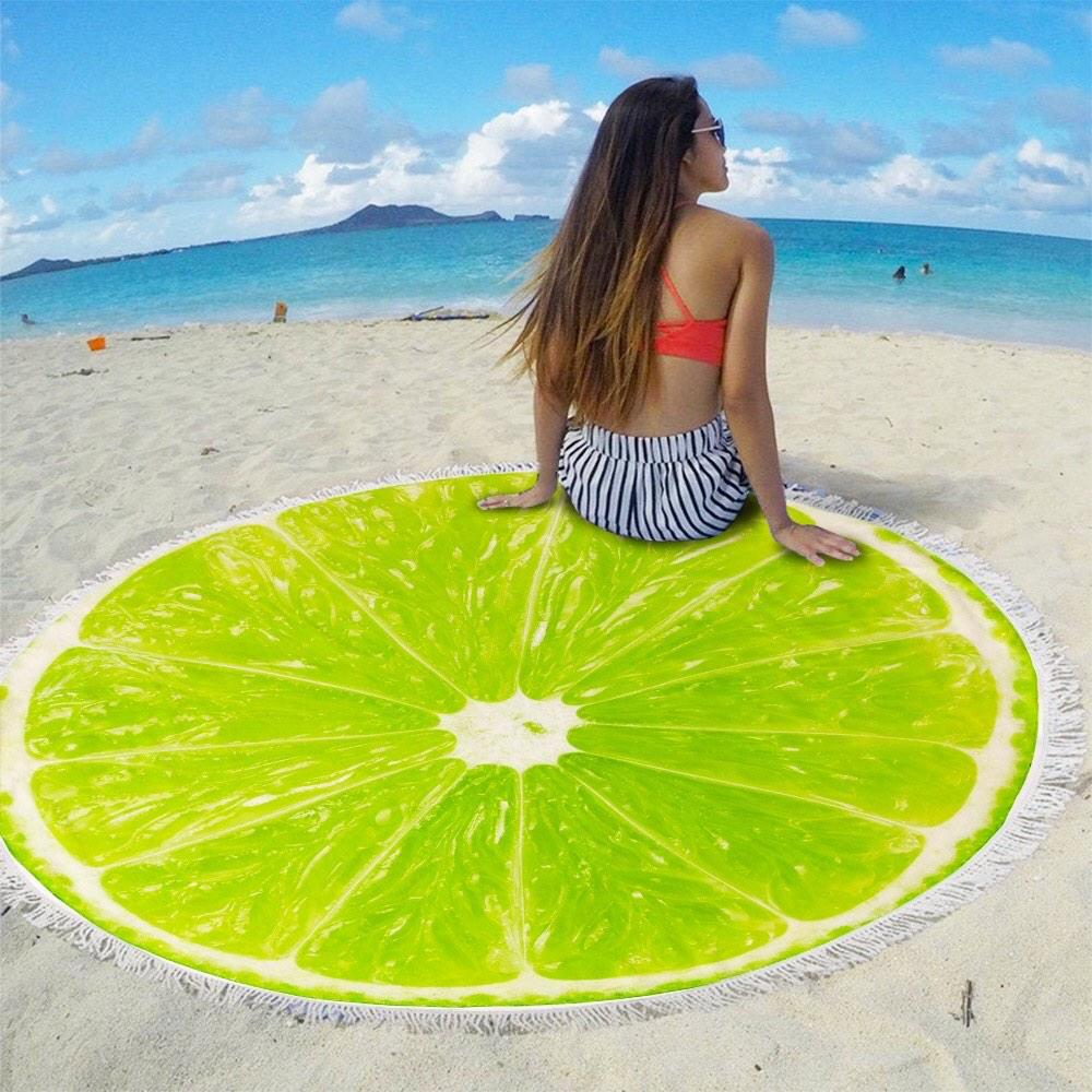 Пляжный коврик Лайм (150 см '150 см)