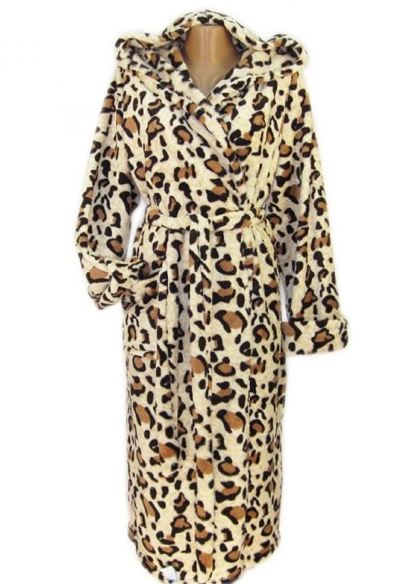 Махровый халат женский на поясе теплый домашний зимний велсофт мягкий с капюшоном