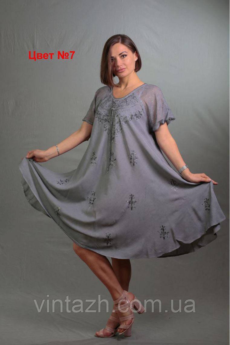 Красивое летнее женское платье большого размера из батиста в интернет магазине