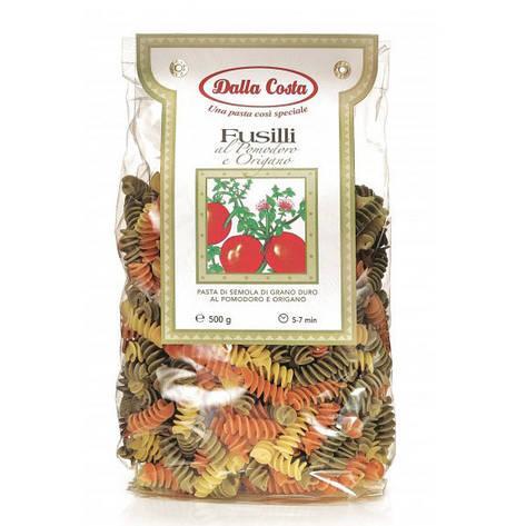 Макарони DALLA COSTA Fusilli tricolor з томатом і орегано 250 г , фото 2