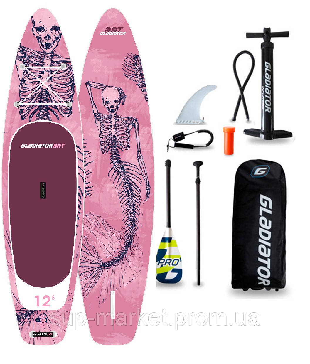 "SUP доска Gladiator MERMAID 12'6"" x 31'' x 6'', 26psi, 2020"