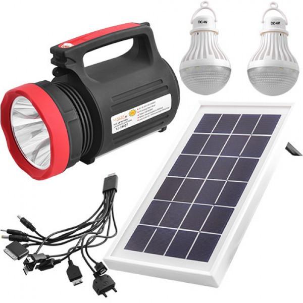 Фонарик солнечная система прожектор Yajia-1902T 5W+22LED USB Power Bank/Solar