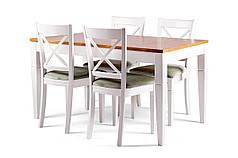 Обеденный комплект/ стол PRAHA + стулья X коричневый/белый