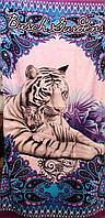Пляжное полотенце 75х150 Былый тигр