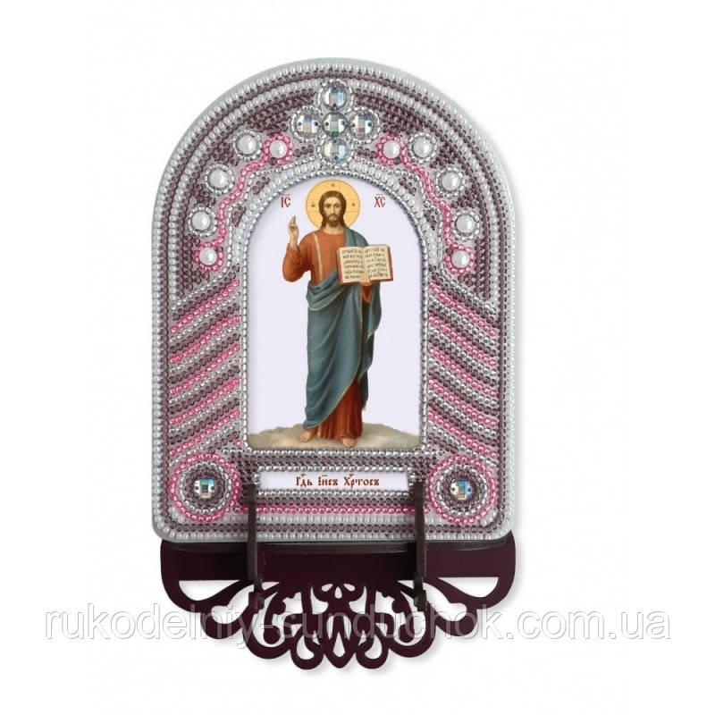 Набір для вишивки бісером з рамкою-киотом Нова Слобода ВК1005 Господь Ісус Христос