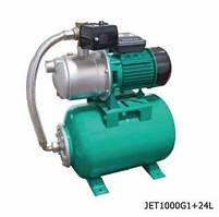 Насосная станция 1.0 кВт Нmax48 = м Qmax = 90л/мин SHIMGE JET1000G1 + Бак 24L