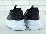 Кроссовки женские в стиле Versace Chain Reaction Sneakers BLACK (Реплика ААА+), фото 2