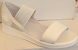 Босоножки кожаные на танкетке от производителя модель ЛИ100-2, фото 3