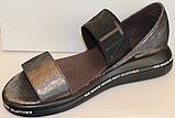 Босоножки кожаные на танкетке от производителя модель ЛИ100-2, фото 2