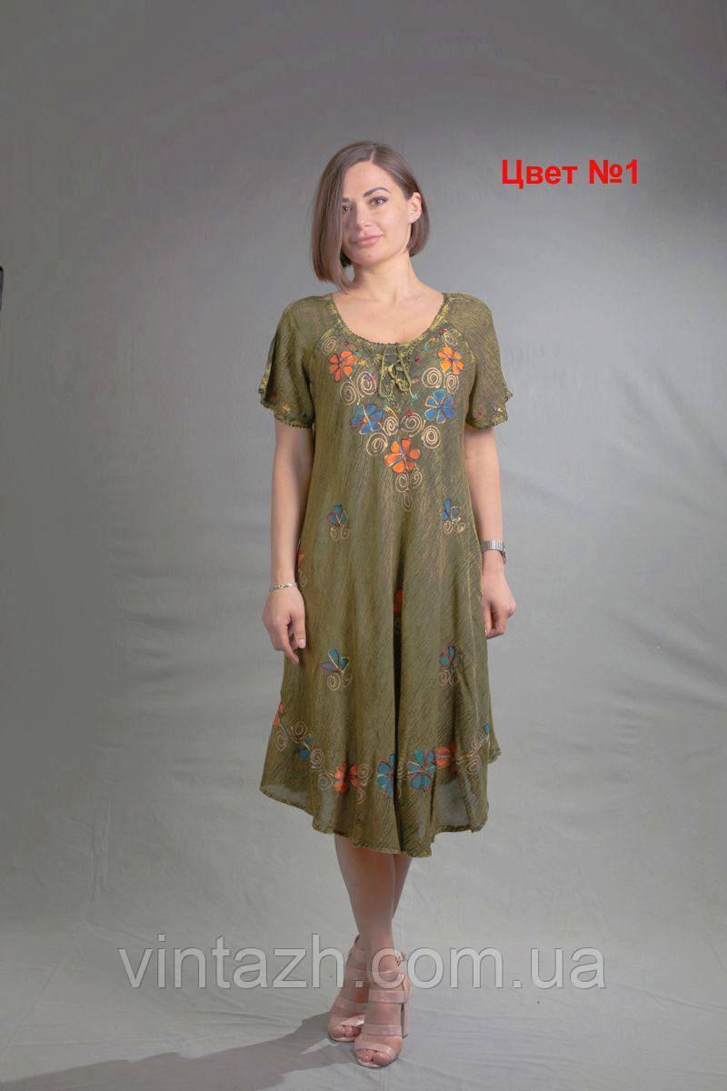 Батистовое летнее женское платье  размер 56 в интернет магазин в Украине
