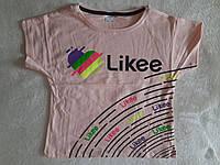 Модная футболка-топ для девочки Likee(лайк) 164,176 см