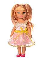 Детская кукла в платье со светлыми волосами в коробке, высота 33 см