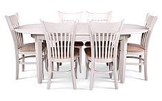 Обеденный комплект/ стол VALENCIA + стулья GEULA белый