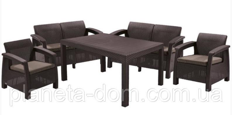 Комплект садовой мебели Bahamas Fiesta, коричневый