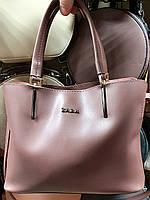Женская сиреневая сумка Zara из эко-кожи на 3 отделения 30*22 см, фото 1