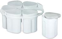 Універсальні склянки для йогурту пластикові, для мультиварки 5 шт в наборі