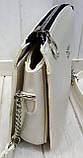 Женский голубой клатч Zara на 3 отделения внутри 23*18 см, фото 2