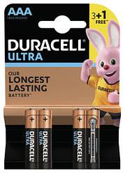 Батарейка Duracell AAA LR03 MN2400 Ultra уп. 1x(3+1) шт.