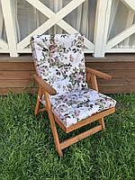 Матрас на кресло Кедр на Ливане Уют большой серия Simple flowers 100x50x7 см Цветы  (1059)
