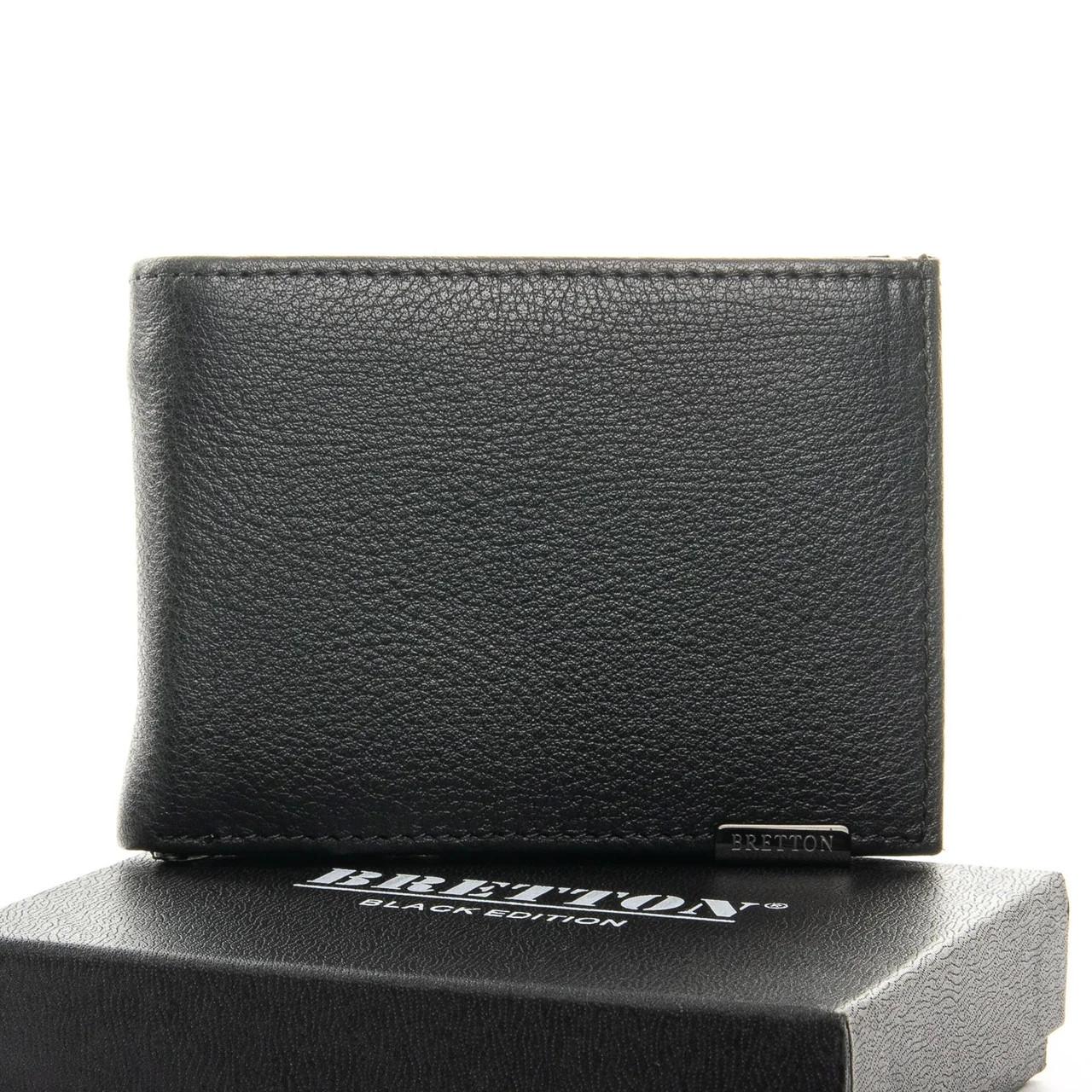 Шкіряний чоловічий гаманець(Зажим для грошей) / Кожаный мужской кошелек(Зажим для денег) Bretton 168