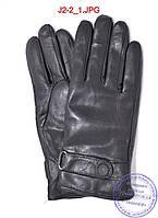 Подростковые кожаные перчатки с махровой подкладкой - №J2-2, фото 1