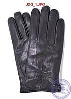 Подростковые кожаные перчатки с махровой подкладкой - №J2-3, фото 1