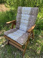 Матрас на кресло Кедр на Ливане Уют большой серия Simple flowers 100x50x7 см Капучино (1059)