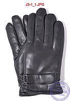 Подростковые кожаные перчатки с махровой подкладкой - №J3-1, фото 1