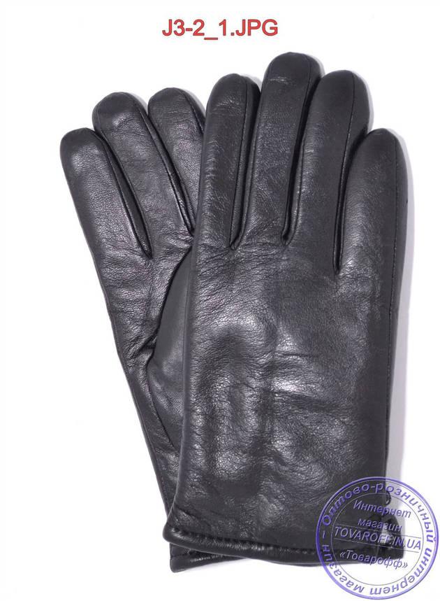 Оптом подростковые кожаные зимние перчатки на меху - №J3-2, фото 2