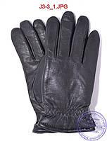 Оптом подростковые кожаные перчатки с махровой подкладкой - №J3-3, фото 1