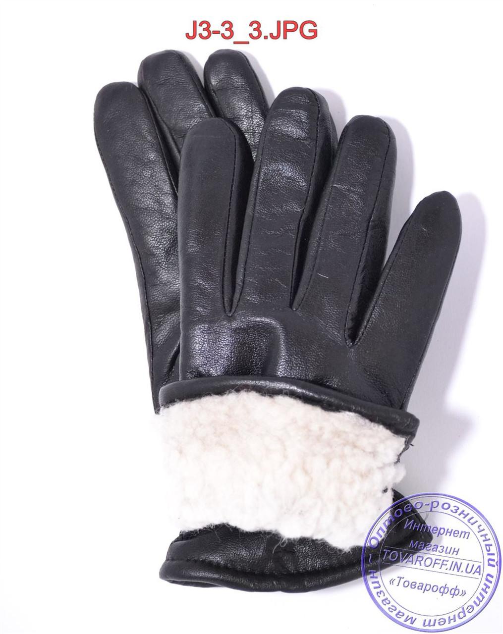 5bed5ef34bff ... Оптом подростковые кожаные перчатки с махровой подкладкой - №J3-3, фото  3