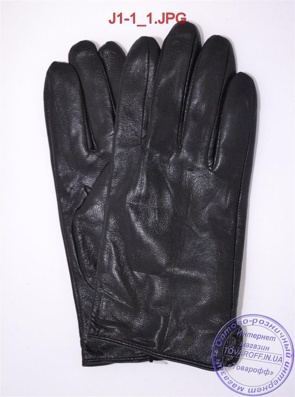 Подростковые кожаные перчатки с плюшевой подкладкой  - №J1-1