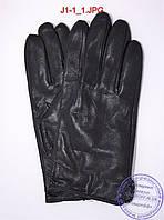 Оптом подростковые кожаные перчатки с плюшевой подкладкой  - №J1-1, фото 1