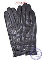Подростковые кожаные перчатки с плюшевой подкладкой  - №J1-3, фото 1