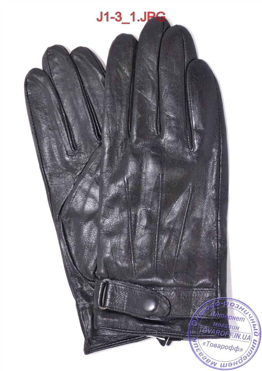 Оптом подростковые кожаные перчатки с плюшевой подкладкой  - №J1-3