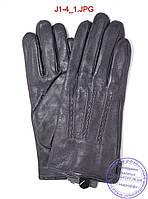 Подростковые кожаные перчатки с плюшевой подкладкой  - №J1-4, фото 1