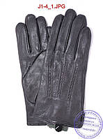 Оптом подростковые кожаные перчатки с плюшевой подкладкой  - №J1-4, фото 1