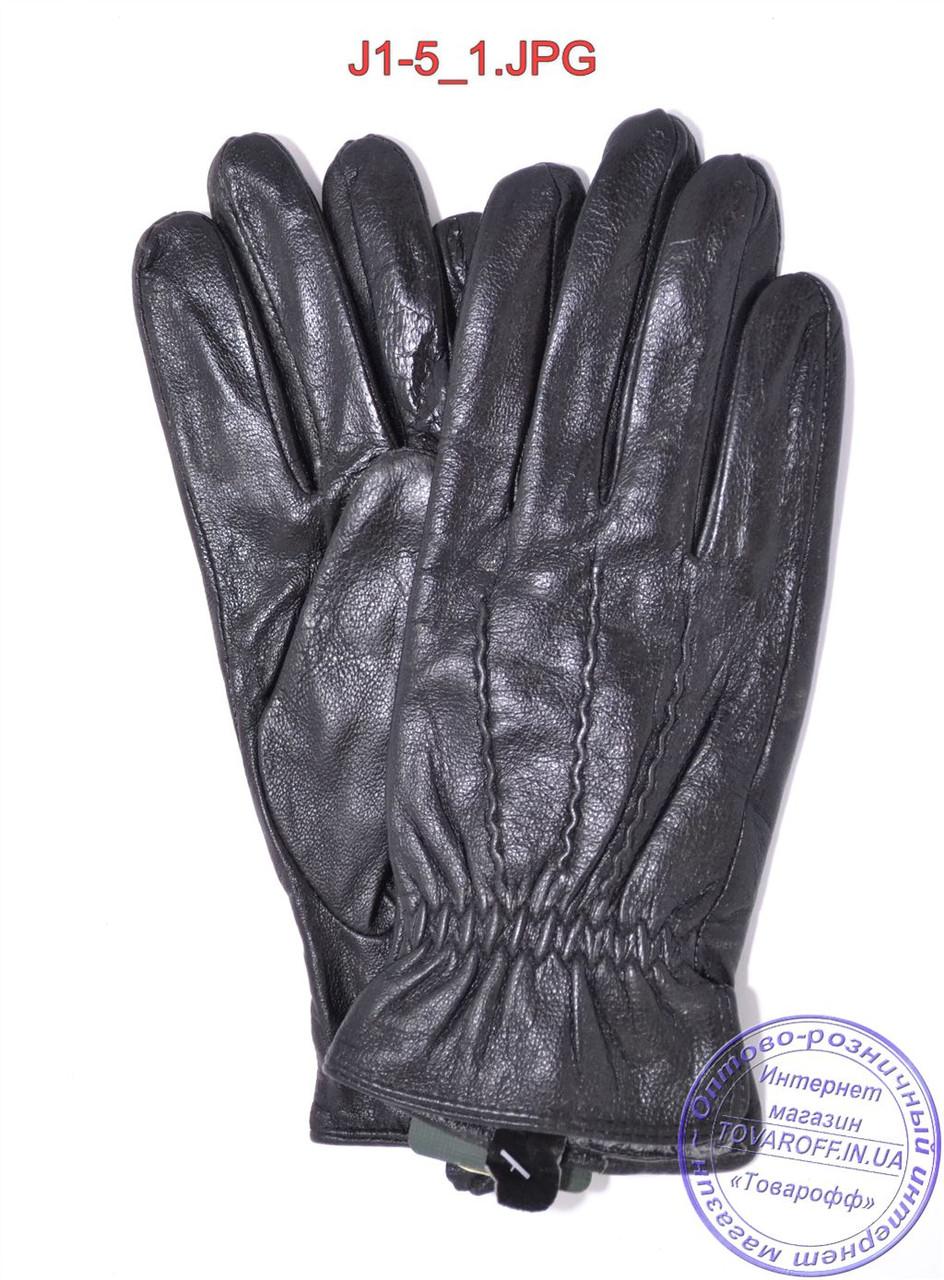 Подростковые кожаные перчатки с плюшевой подкладкой  - №J1-5