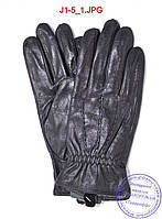 Подростковые кожаные перчатки с плюшевой подкладкой  - №J1-5, фото 1