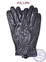 Оптом подростковые кожаные перчатки с плюшевой подкладкой  - №J1-5, фото 1