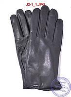 Подростковые кожаные перчатки с махровой подкладкой - №J2-1, фото 1
